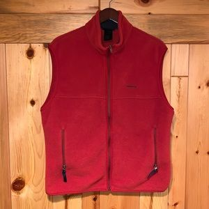 Men's PATAGONIA Synchilla Red Zip Fleece Vest L!